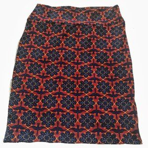 Rust Black and blue Cassie Pencil Skirt Size 3X